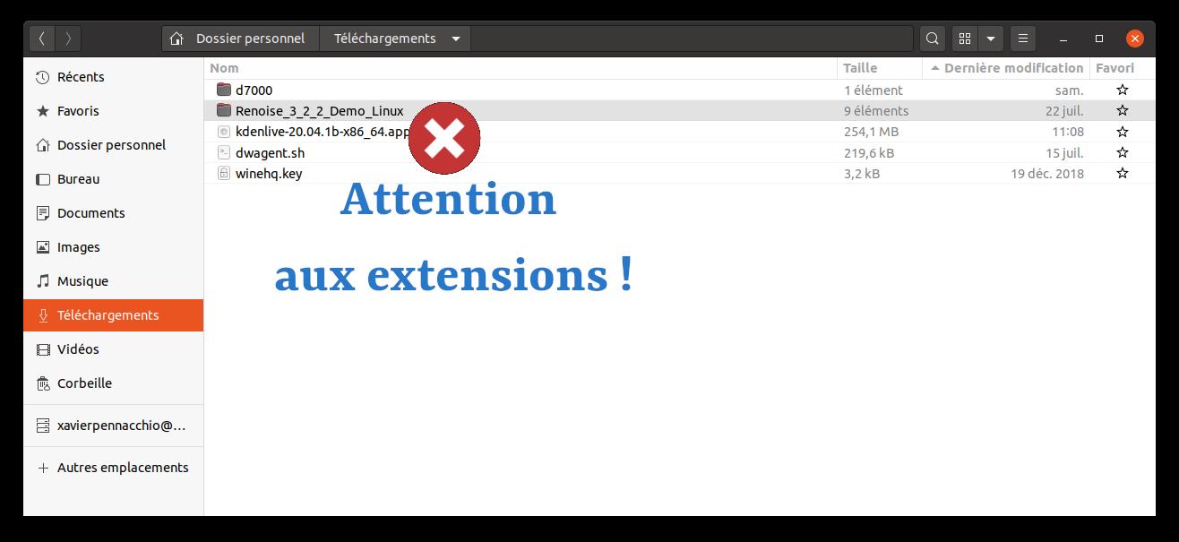 attention aux extensions de fichiers